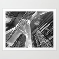 Looking Up In London Art Print