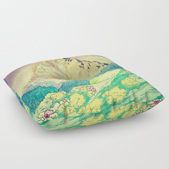 Sleeping in Colours at Minna Floor Pillow by Kijiermono Society6