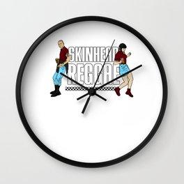 Skinhead Reggae design - Anti-Racism Trojan Skinhead Clothing Wall Clock