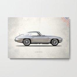 The 63 Vette Metal Print