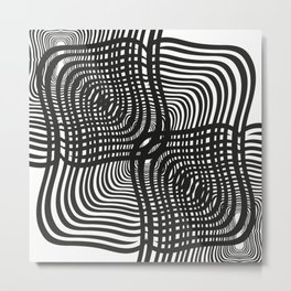 Black and White Illusion Metal Print