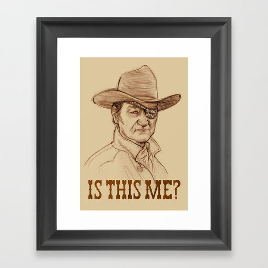 Is This Me? Framed Art Print
