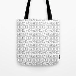 HD Soap Black Tiled on White Tote Bag