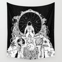 The Dreamer (B/W) Wall Tapestry