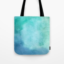 Blue Watercolor Texture Tote Bag