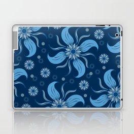 Floral Obscura Dark Blue Laptop & iPad Skin