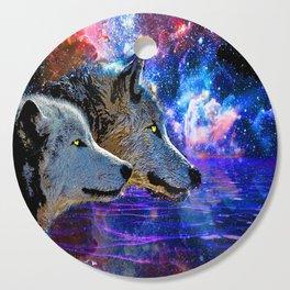 NEBULA WOLF OF THE NIGHT Cutting Board