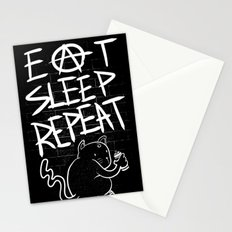 Eat Sleep Repeat Stationery Cards