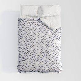Dalmatian Blue Spots - Royal Blue Polka Dots Comforters