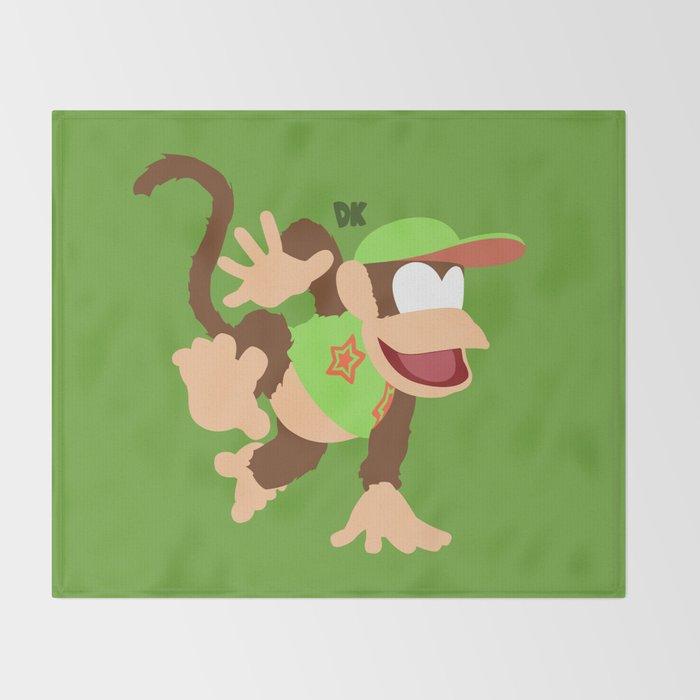 DIDDY KONG(SMASH)GREEN Throw Blanket