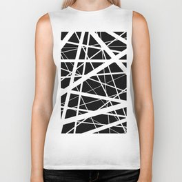 Entrapment - Black and white Abstract Biker Tank