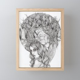 JennyMannoArt GRAPHITE DRAWING/FAIRIE Framed Mini Art Print