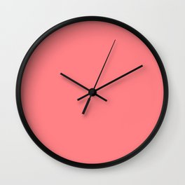Watermelon Juice Pink Solid  Wall Clock