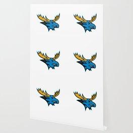 Bull Moose Head Mascot Wallpaper