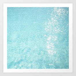 Pool sparkle Art Print