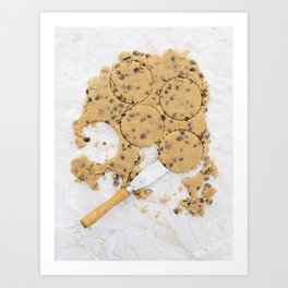 Peanut butter cookie dough Art Print