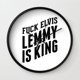 Lemmy is the king ascending Wall Clock
