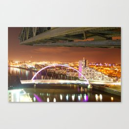 Jib & Clyde Arc Bridge. Canvas Print