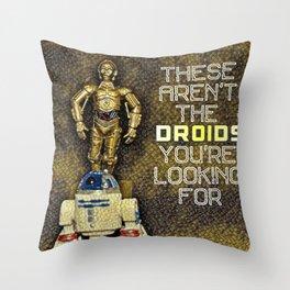 C3P0 R2D2 Throw Pillow
