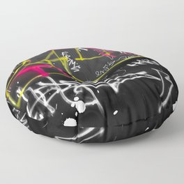 New York Traces - Urban Graffiti Floor Pillow