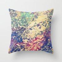 acid Throw Pillows featuring Acid by Fernando Vieira