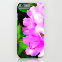 Painted Rhododendron - Pink 2 iPhone Case