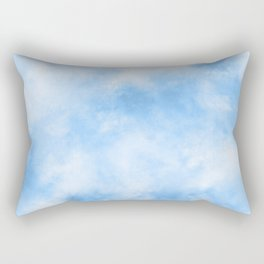 Abstract Cloudy Blue Sky Rectangular Pillow