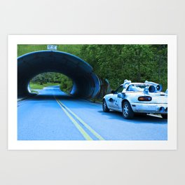 When this baby hits eighty-eight miles per hour... Art Print