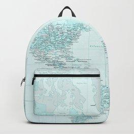 World Map Landscape Backpack