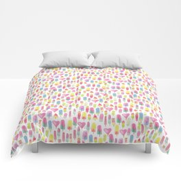 Watercolor Ice-cream and Popsicles Comforters