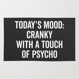 Cranky & Psycho Funny Quote Rug