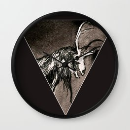 Out of light cometh darkness. (Crown a dark animal). Wall Clock