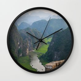 Stunning view in Vietnam | Rice fields of Tam Coc | Travel photography | Fine Art | Photo Print |  Wall Clock