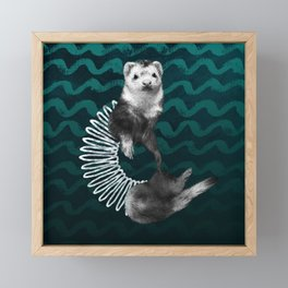 Ferret Slinky Framed Mini Art Print
