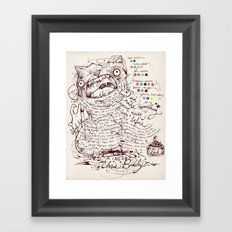 Make a name for yourself Framed Art Print
