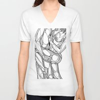 passion V-neck T-shirts featuring Passion by Jasmine Smith