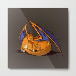 Maternal Instinct - Fire Metal Print