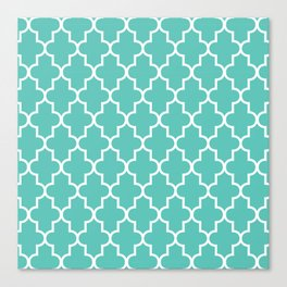 Moroccan - Turquoise Canvas Print