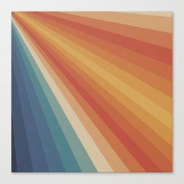 Retro 70s Sunrays Canvas Print