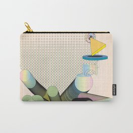 Geometric Shapes in Motion: an Abstraction in Color Carry-All Pouch