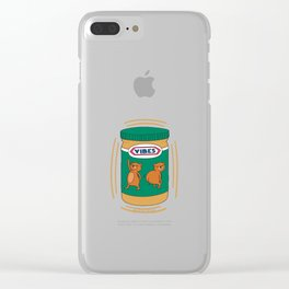Peanut Butter Vibes - Smooth Clear iPhone Case