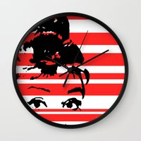 audrey Wall Clocks featuring Audrey by Heaven7