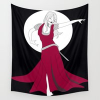 dancer Wall Tapestries featuring Dancer by Céline Solmini