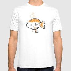 Ranchu Goldfish Mens Fitted Tee White MEDIUM