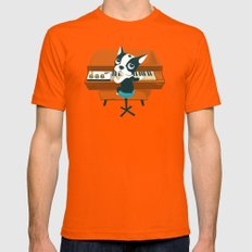 Boogie on Mellotron Orange Mens Fitted Tee X-LARGE