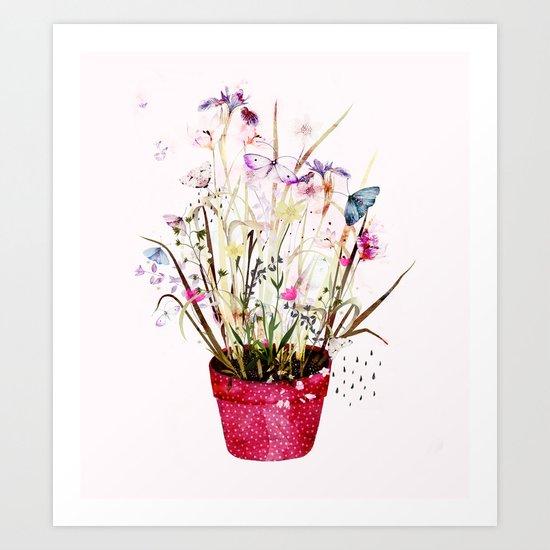 imagined plant Art Print