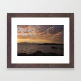 Sunset Bay Framed Art Print
