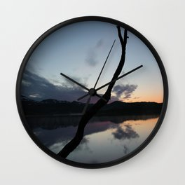 Sunset on lake, Nature Photography, Landscape Photos, sunset photos Wall Clock