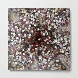 Stars in Creamy Brown Taffy Metal Print
