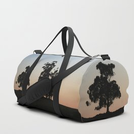 Eucalyptus trees at sunset Duffle Bag